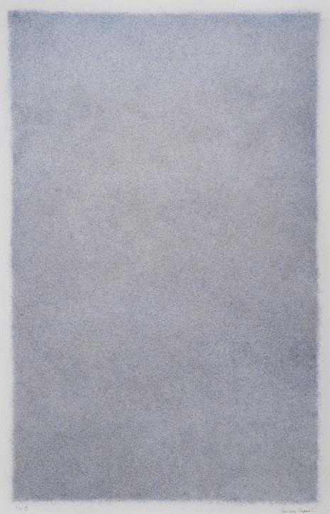 Zeichnung auf Arches Bütten (Bleistift, Farbstift) 2014, 66 x 101 cm
