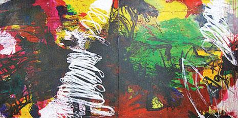 Recardo, Acryl und Öl auf Leinwand 2009, 220 x 400 cm