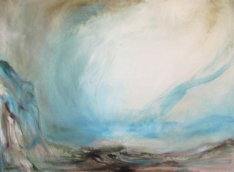 Ohne Titel, Öl auf Leinwand 2008, 50 x 70 cm