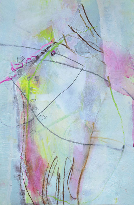 Ohne Titel, Acryl, Kreide, Grafitstift auf Papier 2016, 20 x 30 cm