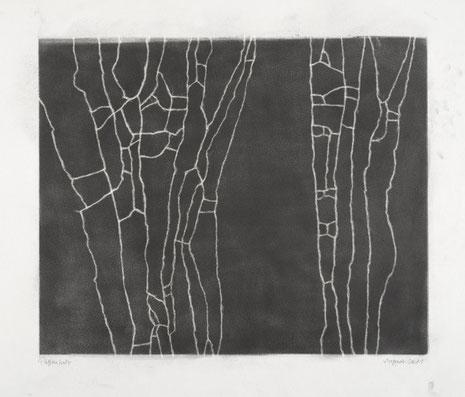 LUFT Linie 2, Graphit auf Papier, Knetradiergummi 2011, 48 x 62,5 cm