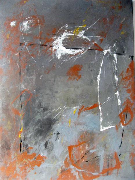 Ohne Titel, Acryl auf Leinwand 1993, 150 x 110 cm