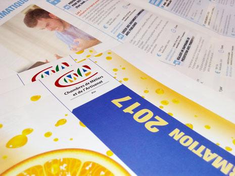 Made in com, création graphique et mise en page de brochures