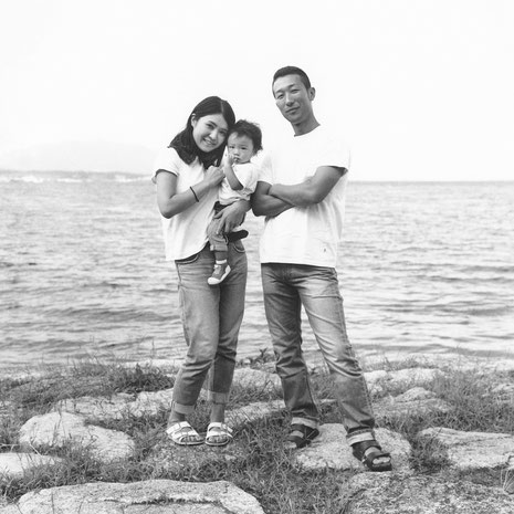 S様ご家族(2019年9月 白黒フィルム撮影)