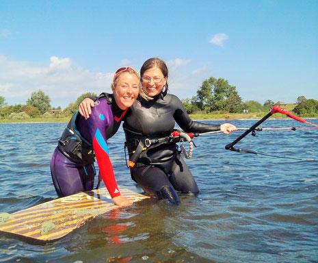 Sarah Agte von Oceanblue Watersports gibt Kite-Tipps