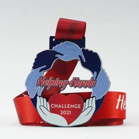 Jeder Läufer erhält eine speziell für den Wettbewerb angefertigte Medaille