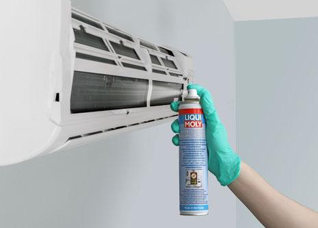 Eine Dose des Klimaanlagenreinigers reicht für eine Anwendung.