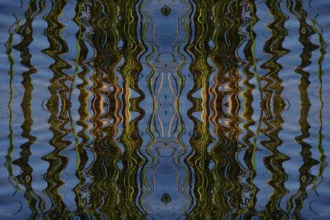 Vierfach-Spiegel nennt Silke diese Arbeit. Ungewöhnlicher Blickwinkel auf ein Alltagsmotiv.