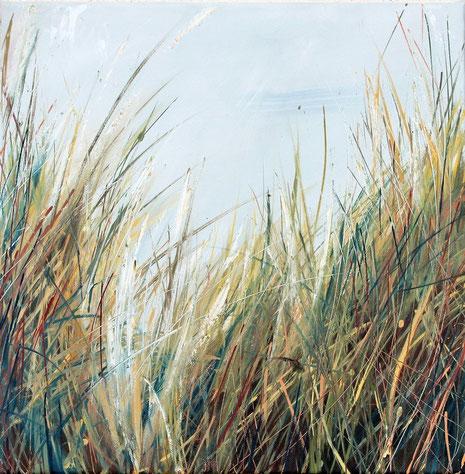 Strandhafer (I), Öl auf Leinwand, 40 x 40 cm. 2013