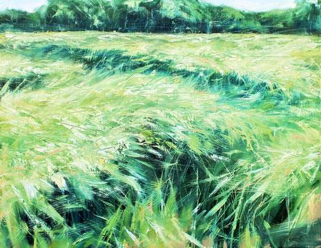 Frühlingsfeld, Öl auf Leinwand, 90 x 70, 2014.