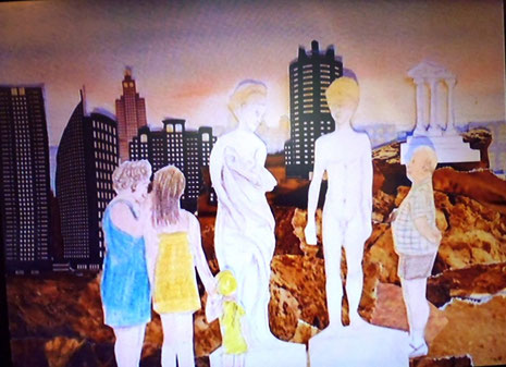 Ein kleiner Trickfilm aus Marij Neumanns Hand zum Thema Torso unterhielt die Besucher der Jahresausstellung 2013.