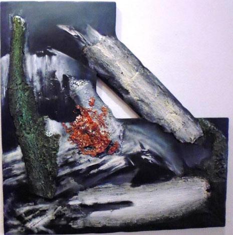 Eine Arbeit für die Jahresausstellung 2013, typisches Beispiel für den Stil des langjährigen Sohle 1-Mitgliedes.