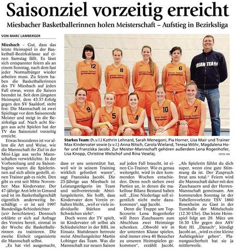 Bericht des Miesbacher Merkur am 20.3.2014 - Zum Vergrößern Klicken