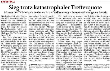 Artikel im Miesbacher Merkur am 22.10.2014 - Zum Vergrößern Klicken