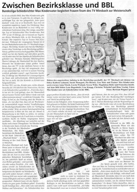 Artikel der BayernBasket 5/2014 - Zum Vergrößern Klicken