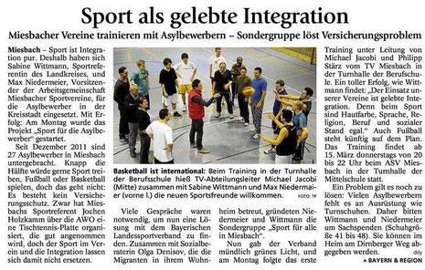 Artikel des Miesbacher Merkur am 7.3.2012 - Zum Vergrößern Klicken