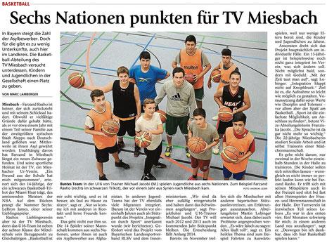 Bericht des Miesbacher Merkur am 8.10.2013 - Zum Vergrößern Klicken