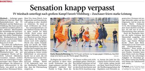 Artikel im Miesbacher Merkur am 19.11.2014 - Zum Vergrößern Klicken