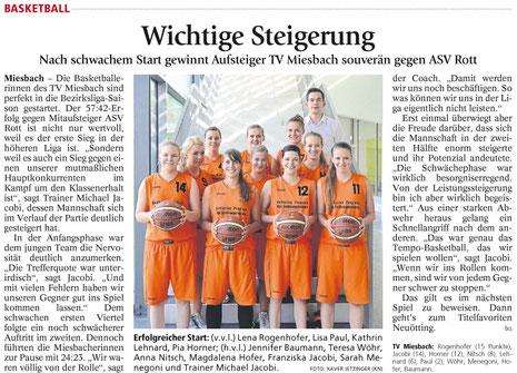 Artikel des Miesbacher Merkurs am 1.10.2014 - Zum Vergrößern Klicken