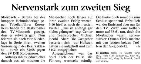 Bericht des Miesbacher Merkur vom 14.11.2013