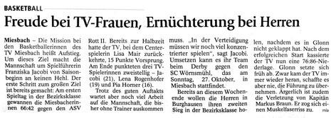 Artikel des Miesbacher Merkur am 17.10.2013 - zum Vergrößern Klicken