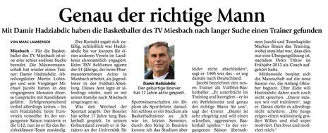 Bericht des Miesbacher Merkur am 12.6. - Zum Vergrößern Klicken