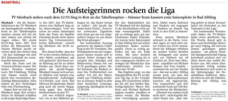 Artikel im Miesbacher Merkur am 12.11.2014 - Zum Vergrößern Klicken