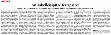 Artkel im Miesbacher Merkur am 5.11.2014 - Zum Vergrößern Klicken