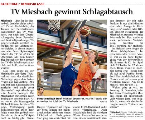 Artikel im Miesbacher Merkur am 27.11.2014 - Zum Vergrößern Klicken