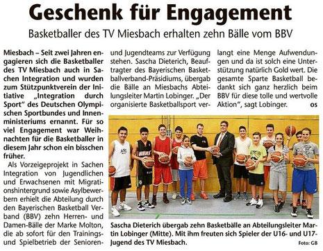 Artikel des Gelben Blattes am 24.12.2013 - Zum Vergrößern Klicken