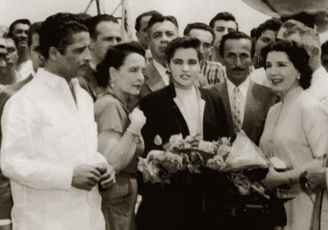Daniel y Libertad Lamarque - Ecuador, 1956.