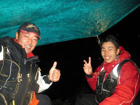 小松さん親子です。右が息子さんのセイヤ君