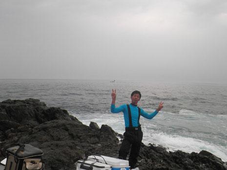 瀬上がり直後、強烈な北風に変わります