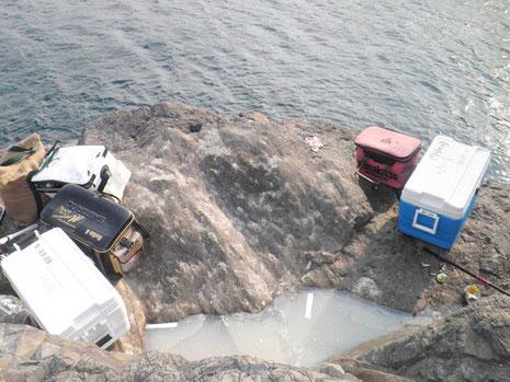 クジラのスケート場。何人の人が臭い水の餌食になったことか…^^;