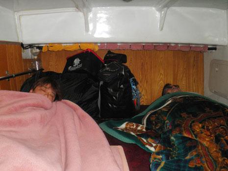 行きは臭くないのでよく寝れます。帰りは臭いですが…(^_^;)