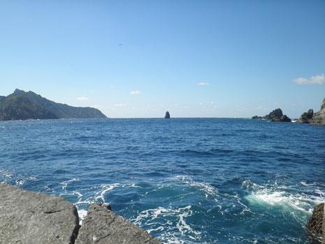 帆立岩が見えます