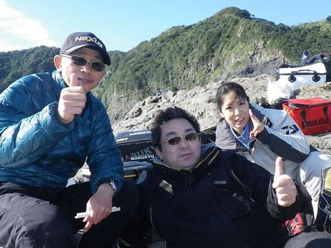新メンバーの丹後さん夫妻と不動の私(^_^;)