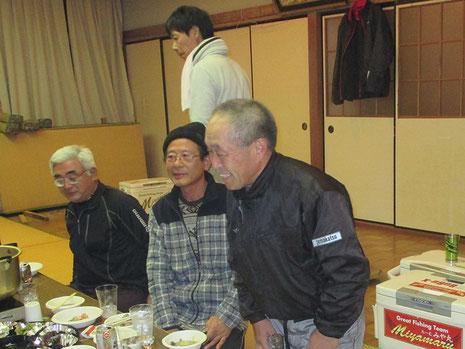 千加丸船頭、土師さん登場^^