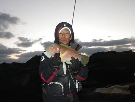 司Pの初魚はハトポッポ^^
