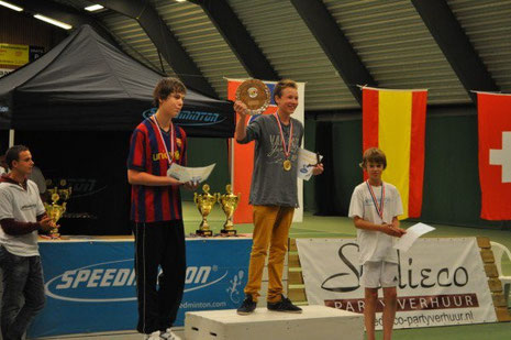 1. Rang bei den U18 für David Camen am Dutch Open (Bild: Club Speed Badminton NL)