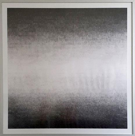 Gewebe II, 2019, Bleistift auf Papier, 90 x 90 cm