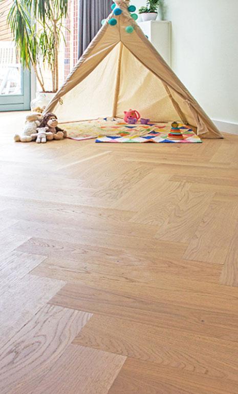 Afbeelding visgraat vloer