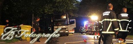 02.08.2012 - HH/Wandsbek: LKW in Flammen