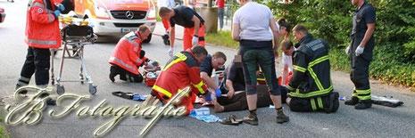23.08.2012 - PKW kollidiert mit Motorrad