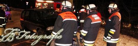 23.01.2013 - HH/Kirchsteinbek: Von der Straße gegen einen Baum