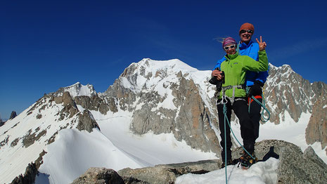 Françoise et Dominique au sommet de l'Aiguille de Toule
