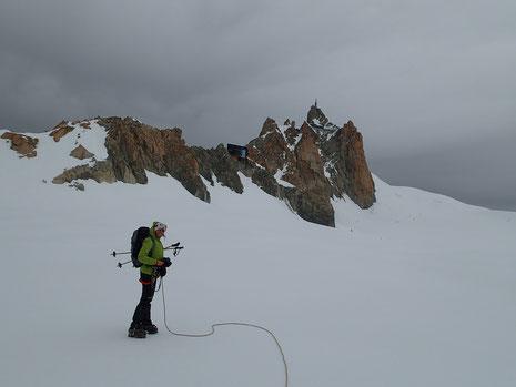 Caroline au Col du Midi