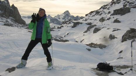Aurélie au Col de Monthieu