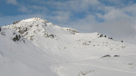 La Hte Pointe et le vallon skié à la descente