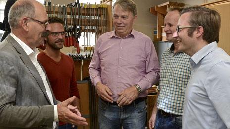 Jan van der Weide, Martin Strammen, Willi Ahrens, Andre´ Osterheider und Sven Weber